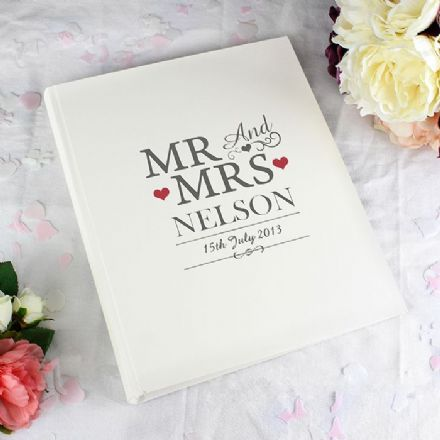 Personalised Mr & Mrs Traditional Photo Album